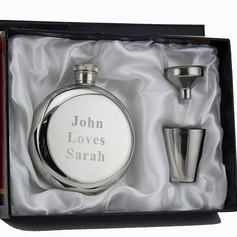 Personalized Round Stainless Steel Flask