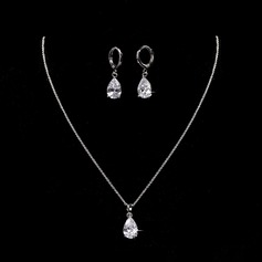 Elegant Alloy/Zircon With Cubic Zirconia Ladies' Jewelry Sets
