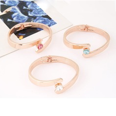 Personalized Alloy With Rhinestone Fashion Bracelets