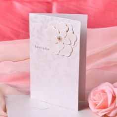 Floral Style Side Fold Invitation Cards