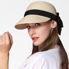 Ladies' Simple/Fancy Papyrus With Bowknot Straw Hats/Beach/Sun Hats (196233889)