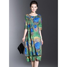 Silk With Print Dress (199128360)