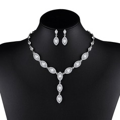 Shining Alloy Ladies' Jewelry Sets (137127311)