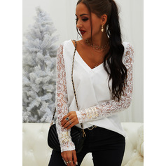 Regular Lace Casual Long Sleeves (1003257209)