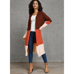 Couleurs Opposées Polyester Cardigans Pulls (1002223109)