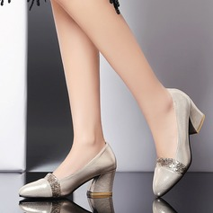 Women's Sparkling Glitter Chunky Heel Pumps Closed Toe With Sparkling Glitter shoes (085128296)