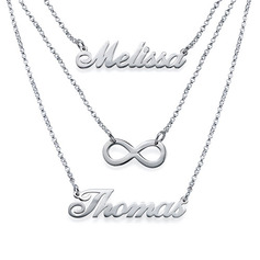 Personalized Ladies' Chic 925 Sterling Silver Name Necklaces For Bridesmaid/For Mother/For Friends/For Couple