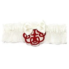 Chinese Style Satin Wedding Garters