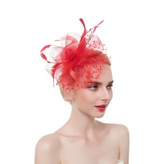 Dames Accrocheur/Charme/Romantique Feather/Fil net avec Feather Chapeaux de type fascinator