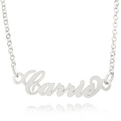 Custom Letter Carrie Name Necklace - Valentines Gifts