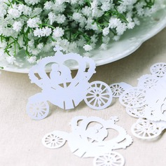 Wedding Car Pearl Paper Place Cards