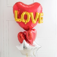 Heart Shaped Elegant Aluminium Foil Balloon