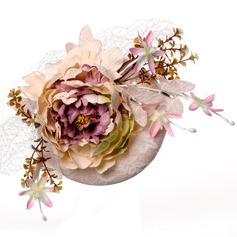 Ladies' Elegant Cotton With Silk Flower Fascinators