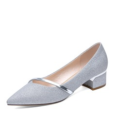 Women's Sparkling Glitter Low Heel Closed Toe With Others