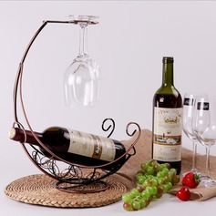 Wine Rack Iron Simple Elegant Table Centerpieces