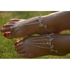 Rhinestone Alloy Foot Jewellery (Sold in a single piece) (107122432)