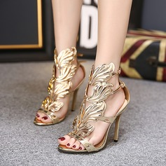 Women's PU Stiletto Heel Sandals Pumps shoes (087128092)