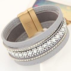 Personalized Leatherette/Alloy Fashion Bracelets