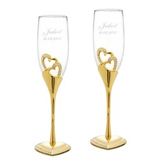 Personalized Heart Design Alloy Glass Toasting Flutes (2 Pieces) (129061694)