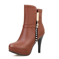 Women's Leatherette Stiletto Heel Pumps Closed Toe Wedges Boots Ankle Boots shoes