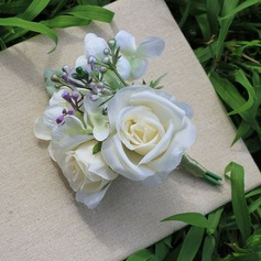 Free-Form Satin Flower Sets - Wrist Corsage/Boutonniere