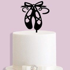 Birthday/Ballet Shoes Acrylic/Wood Cake Topper