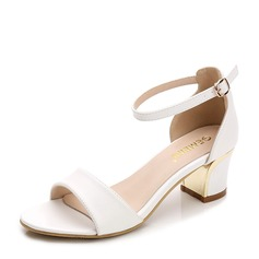 Women's Leatherette Low Heel Sandals Pumps shoes (087124341)