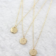 Attractive Alloy Initial Necklaces Necklaces For Bride/For Bridesmaid (011205844)