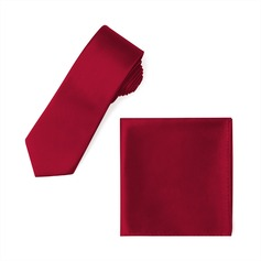 JJ's House Satin Tie e Bolso Square Set
