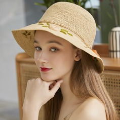 Ladies' Simple/Handmade Raffia Straw With Bowknot Beach/Sun Hats/Tea Party Hats