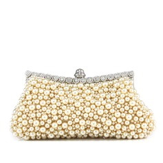 Gorgeous Pearl With Rhinestone Clutches