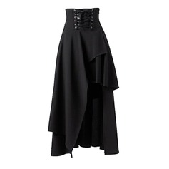 A-Line Skirts Maxi Plain Polyester Skirts (1005163025)