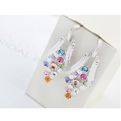Beautiful Alloy Crystal Ladies' Fashion Earrings