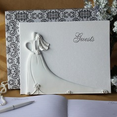 Bride and Groom Design Rhinestones Guestbook