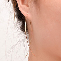 Ladies' Simple Copper Earrings For Friends/For Her (011234547)