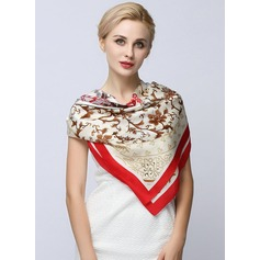 Floral Square 100% Mulberry silk Square scarf