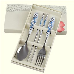 Stainless Steel Teacups Spoon Set