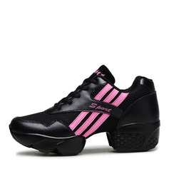Unisex Leatherette Mesh Sneakers Modern Sneakers Practice Dance Shoes