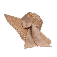 Ladies' Beautiful Raffia Straw With Bowknot Floppy Hat/Beach/Sun Hats