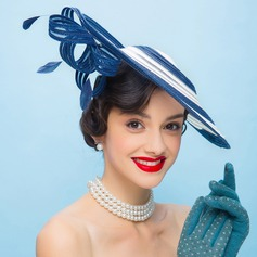 Ladies' Vintage Polyester With Feather Fascinators