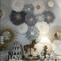 Beautiful Polyester Feather Home Décor (Sold in a single piece)