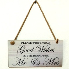 Delicate/Square Design Wooden Wedding Sign