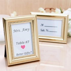 4 x 3 inch Gold Photo Frame Place Card Holder