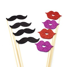 Wedding Modelling Lip And mustache Sponge Photo Booth Props