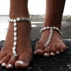 Rhinestone Alloy Foot Jewellery (Sold in a single piece) (107130791)