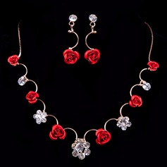 Flower Shaped Alloy/Resin With Rhinestone Ladies' Jewelry Sets
