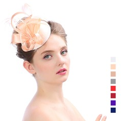 Ladies' Elegant Organza With Feather Fascinators