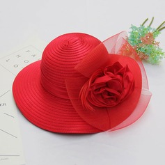 Ladies' Gorgeous/Elegant Net Yarn With Feather/Silk Flower/Tulle Bowler/Cloche Hat