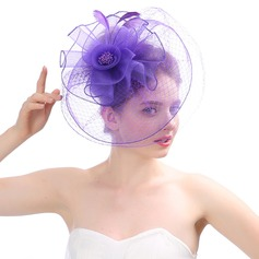Ladies' Beautiful/Gorgeous/Fashion Net Yarn With Feather Fascinators