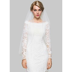 One-tier Fingertip Bridal Veils